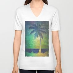 Buy Summer vibes V-neck T-shirt by HappyMelvin. Worldwide shipping available at Society6.com. Just one of millions of high quality products available.
