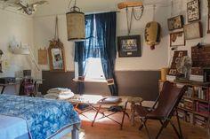 Overview of light filled master bedroom