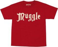 Harry Potter Muggle Youth T Shirt