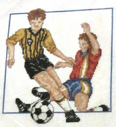 Complete Kit Counted Cross Stitch Floss World Cup Soccer Players Men Boy CCS #greatbiggraphs