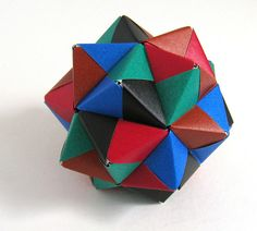 Origami stellated icosahedron | Flickr - Photo Sharing!