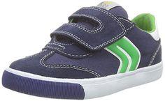 cool Geox B Kiwi Boy E Zapatillas, Bebé-niños, Multicolor (Navy / Green), 24