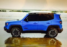 Sierra Blue Jeep Renegade 2015