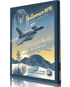Share Squadron Posters for a 10% off coupon! Holloman AFB 54th FG Quality Assurance F-16 #http://www.pinterest.com/squadronposters/
