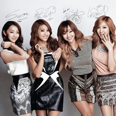 """SISTAR (씨스타) is a Korean pop girl group created by Starship Entertainment. Their group name is a combination of the words """"Sister"""" and """"Star"""", meaning they are meant to be sisters in the entertainment business and become big stars. Kpop Girl Groups, Korean Girl Groups, Kpop Girls, Suzy, Korean Celebrities, Celebs, Sistar Kpop, Yoon Bora, Woman Singing"""