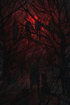 Red Moon by Alena YMhin Featured at our. - The Art Showcase Horror Comics, Horror Art, Vanitas Paintings, Steampunk, Red Moon, Cool Sketches, Red Aesthetic, Fantasy Creatures, Dark Art