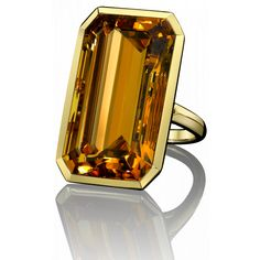 Robert Procop Exceptional Jewels Citrin Tablet ring