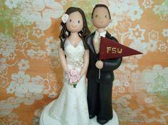 fsu wedding cake topper | Source: etsy.com via Meghann on Pinterest .