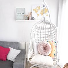 Boho Deco Chic Boho Deco, Nordic Style, Hanging Chair, New Homes, Rooms, Furniture, Chic, Home Decor, Ideas