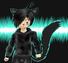 Toby. Neko. Anime. Cat boy. BlackAndBlue. Sixteen old. Teeneger. Rebel. Funny.