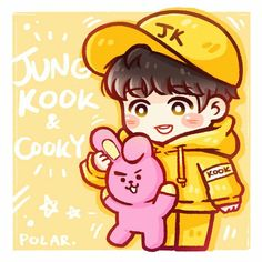 2 from the story BTS Cartoon Photos [Fanart] by ARMYZalsa (Zalsa) with reads. Bts Jungkook, Jungkook Fanart, Kpop Fanart, Bangtan Bomb, Bts Chibi, Foto Bts, Cartoon Photo, Kpop Drawings, Cute Cartoon Wallpapers