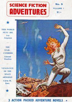 Science Fiction Adventures. Vol.1  No.5  1958 Cover Art. Emsh