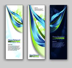 Blue Style Vertical banner vector 02