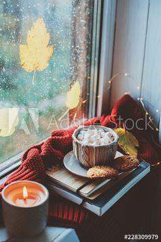 Autumn Cosy, Autumn Morning, Autumn Aesthetic, Fall Photos, Cold Day, Tis The Season, Fall Halloween, Halloween Decorations, Cocoa