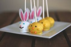 Easter Cake Pops - Adorable Homemade Pastel Easter Gifts, Vanilla Cake Dipped with White Chocolate