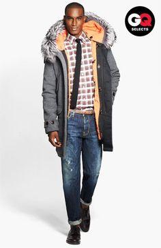 Todd Snyder Genuine Fox Fur Trim Wool Coat #Nordstrom #GQSelects