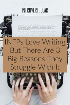 Here's why the INFP personality has trouble writing, according to a writing coach for INFPs. For one, they don't think in a linear way. person This Is Why an INFP Personality Has Trouble Writing Writing Advice, Writing Skills, Writing A Book, Writing Fantasy, Writing Notebook, Writing Process, Infp Personality Type, Myers Briggs Personality Types, Character Personality