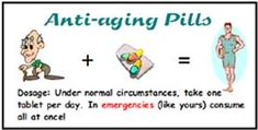 Men's Anti-Aging Pills printable gag gift label from Homemade-Gifts-Made-Easy.com