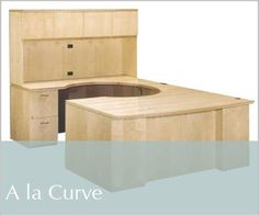 A La Curve Wood Desk