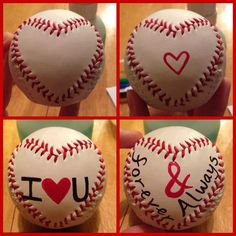 DIY Valentine's Day present for my baseball playing boyfriend. Ball from Hallmark!