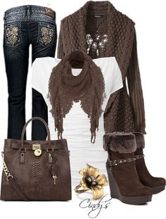 """Loving Browns"" by cindycook10 on Polyvore"