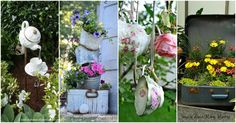 Here are more ideas for your garden this year. This time we found vintage garden decorations. Vintage garden decorations you can find in your basement. Old