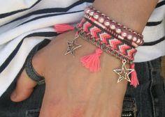 Manchette brésilienne Pink Stars | Brasilda Bijoux