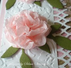 Selma's Stamping Corner: Crepe Paper Flower Tutorial