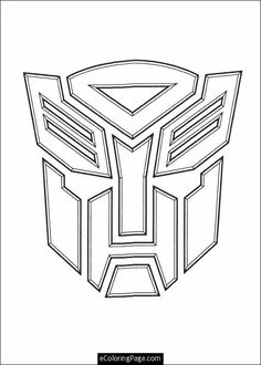 Transformers Printable Coloring Pages | ... transformers logo printable colouring page optimus prime coloring page