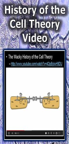 This is a nice video that helps explain the wacky history of the cell theory by Lauren Royal (Ted talk). Its a nice revi 6th Grade Science, Science Curriculum, Science Resources, Middle School Science, Science Classroom, Science Lessons, Science Videos, Science Images, Cell Biology