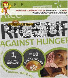 Donează orez prin intermediul FREERICE.COM - Joacă si donează! - SuperHack.ro