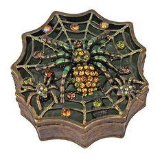 Kirks Folly Spiderella Treasure Box (Brasstone)