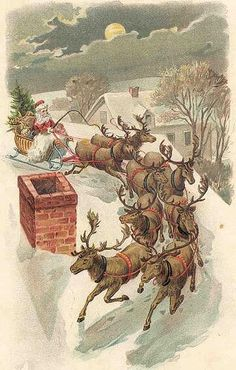 Vintage Christmas Postcard Greeting...