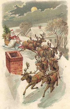 Vintage Christmas Postcard Greeting...