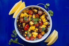 mango, black bean, tomato salad