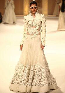 White lehenga at Lakme Fashion Week finale