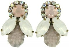 Honey Bee Earrings - Pale Pink