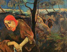 """Gauguin, """"le Christ au jardin des oliviers"""", 1889"""