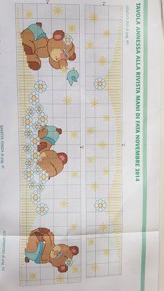 Cross Stitching, Cross Stitch Embroidery, Cross Stitch Designs, Cross Stitch Patterns, Baby Patterns, Quilt Patterns, Cross Stitch Baby Blanket, Teddy Bear Crafts, Crochet Fish