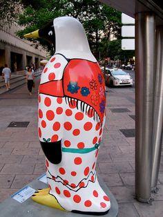 Pingüinos solidarios de Faunia en las calles de Madrid