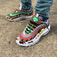 sneaker culture is adopting the pattern mixing trend Custom Sneakers, Custom Shoes, Jordan 1, Sneakers Fashion, Shoes Sneakers, Baskets, Sneaker Art, Hype Shoes, Fresh Shoes