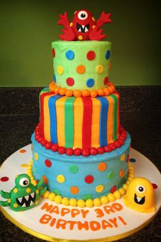 Silly monsters birthday cake-- Cakes by Bri