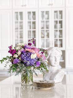 Teleflora's Magnificent Mauves bouquet, tap to shop. Send Flowers, Fall Flowers, Fresh Flowers, Lemon Leaves, Line Flower, Seeded Eucalyptus, Fall Bouquets, Dusty Miller, Lavender Roses