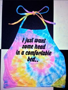 I just want some head in a comfortable bed... All day everyday  Lil high neck halter ft. #OMIGHTY OG prints Screen printed Cotton spandex blend Tied & Dyed with love Lightweight Stretchy