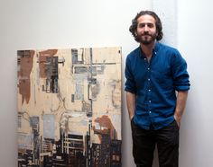 """""""Art and law may seem like a surprising combination, but for Yokell they've been the two poles his career circles around–basically, he's an art history major with a habit he couldn't quit. He fell into art history at Colgate, enticed by an intro course his freshman year, served as a student curator at their museum, and went on to do a year-long Christie's education program."""" Alumnus Adam Yokell setting up a new gallery in Bushwick. Photo by Kavitha Surana"""