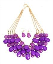 Necklace Purple with matching earrings