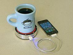 Recarregue seu celular com uma bebida quente ou fria