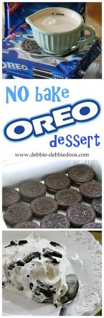 No bake OREO dessert recipe. #debbiedoos