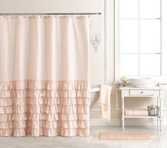 LC Lauren Conrad for Kohl's Pink Bath Curtain