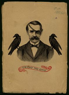 one eyepatch, two crows and a moustache